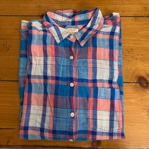 Cotton Candy J. Crew button down pullover
